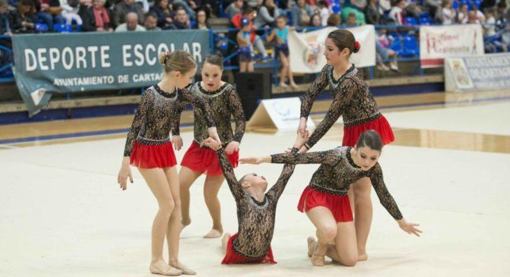 Segunda posición para las gimnastas de La Manga en la XXXVII Competición Escolar de Gimnasia Rítmica